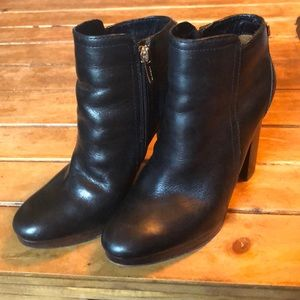 Black COACH Leather Boots